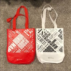 Two small lululemon bags